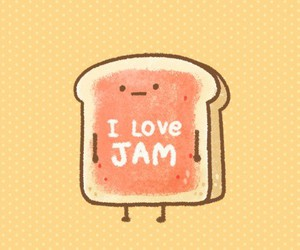 bread, jam, and cute image