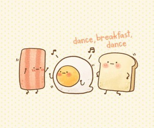breakfast, cute, and bread image