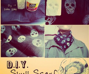 diy, skull, and scarf image