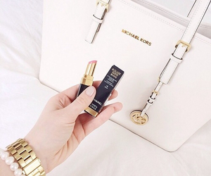 bag, Michael Kors, and lipstick image