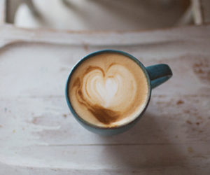coffee, heart, and hot drink image