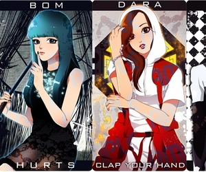 2ne1, dara, and fanart image