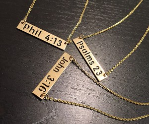 bible, bible verse, and necklace image
