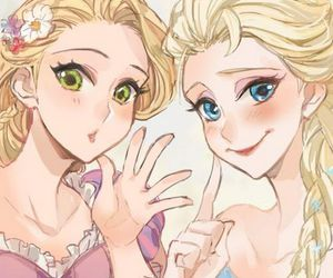 elsa, frozen, and rapunzel image