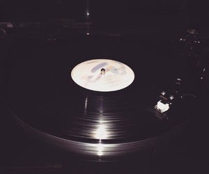 black and white, lp, and music image