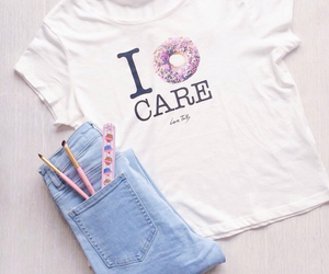 donut, girly, and dont care image