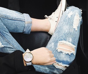 jeans, style, and converse image