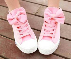 converse, white, and hearts image