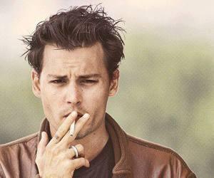 johnny depp, smoke, and sexy image