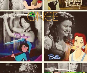 belle, mulan, and once upon a time image