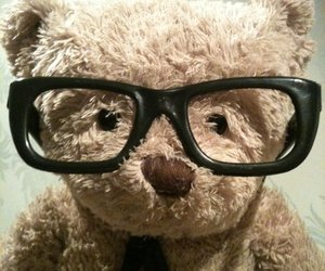 funny, glasses, and plush image