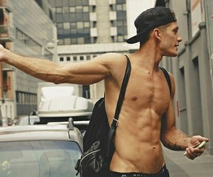 abs, hand, and man image