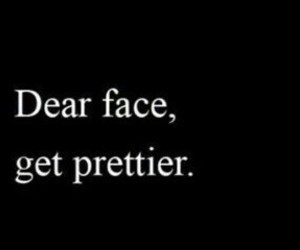 pretty, face, and ugly image