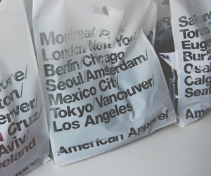 american apparel, bag, and shopping image