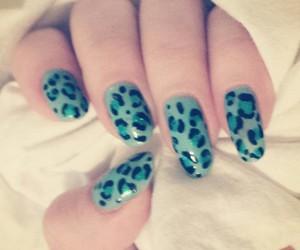 cheetah, nails, and nailart image