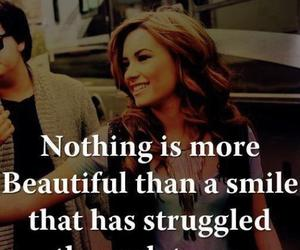 smile, quote, and tears image