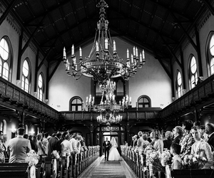 aisle, bride, and church image
