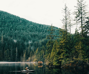 boat, explore, and forest image
