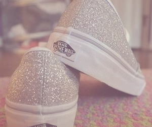 vans, shoes, and glitter image