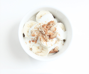 food, white, and banana image