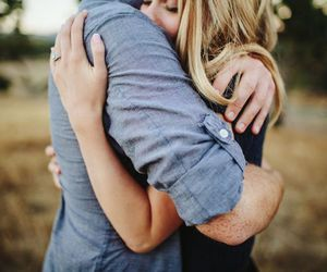 couple, hug, and love image