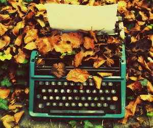 autumn and typewriter image