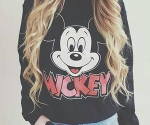mickey, hair, and mickey mouse image