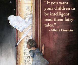 Albert Einstein and fairy tales image