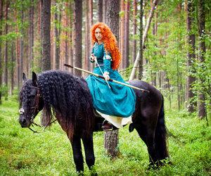 ginger, horse, and merida image