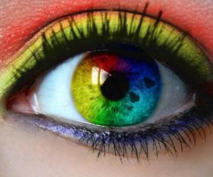 eyes, rainbow, and eye image