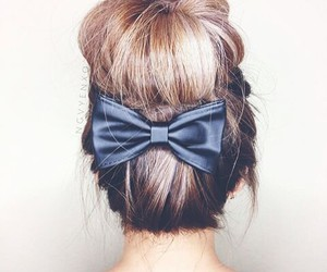 bow, chic, and bun image