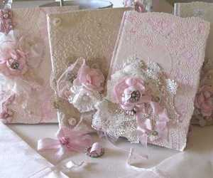 pink, diy, and lace image