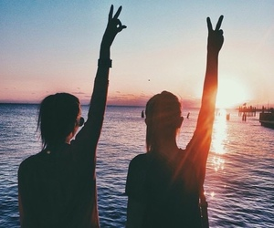 peace, summer, and sunset image