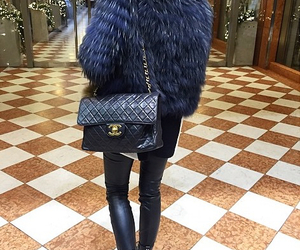 chanel bag, rich, and blue fur image