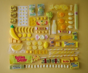 yellow, candy, and sweet image