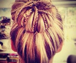 braid, bun, and braided image