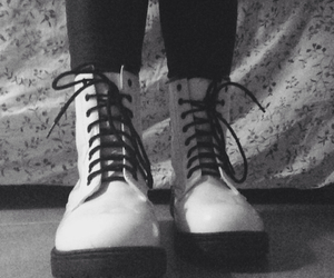 black, shoes, and black and white image