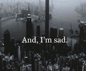 sad, black, and city image