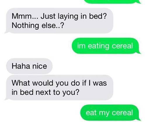funny, cereal, and text image