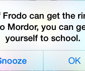 alarm, frodo, and get up image