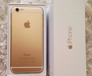 apple, gold, and girl image