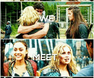 the 100, bellamy, and raven image