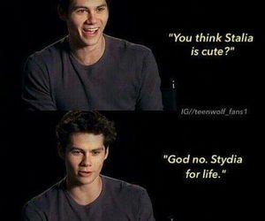 stydia, teen wolf, and dylan o'brien image