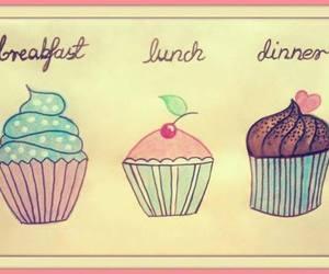 cupcake, breakfast, and dinner image