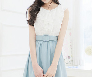 blouse, korean fashion, and skirt image