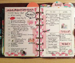cool, notebook, and pink image