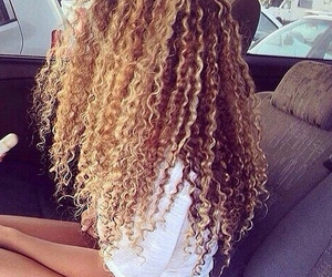 hair, curly, and blonde image