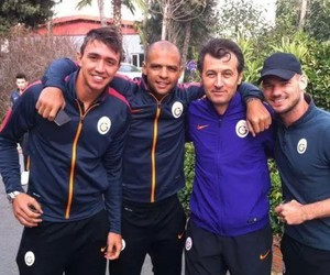 sneijder, melo, and muslera. image