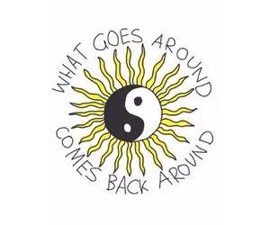sun, quote, and karma image
