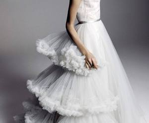 dress, white, and gown image